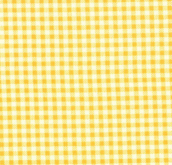 Oops a Daisy Gingham in Yellow by Keiki for Moda - Fat Quarter