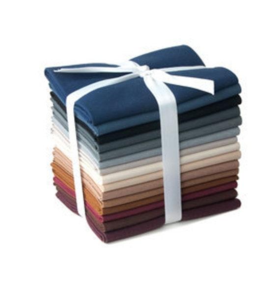 Free Spirit Solids in Subtle -  Fat Quarter Pack - 15 pieces - SPECIAL PRICE