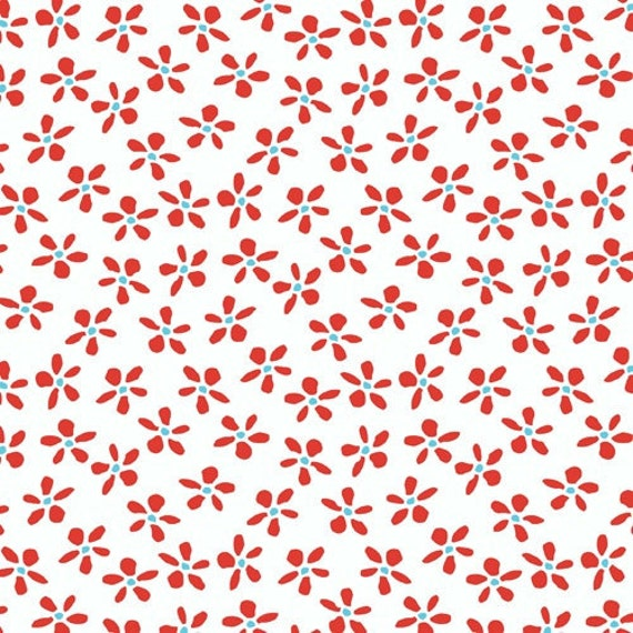 Daisy Toss in Red- Meet the Gang by Creative Thursday- Fat Quarter