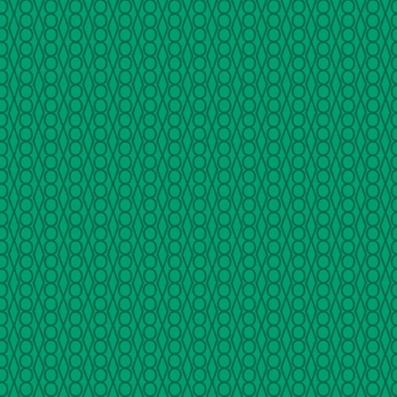 Jewels in Green  from Outfoxed by Lizzy House - Half Yard