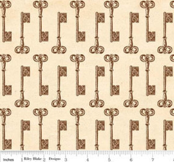 Keys in Cream from Grandma's House by the Paper Loft - SPECIAL PRICE on Half Yards