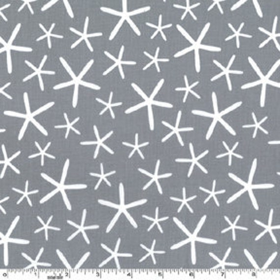 Sea Star in Grey from Going Coastal by Emily Herrick for Michael Miller- Fat Quarter