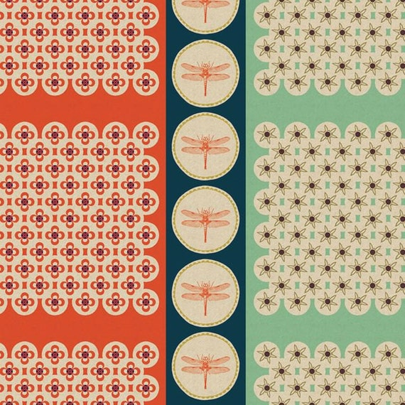 Melody Miller Ruby Star Spring- Buzz in Tomato- Fat Quarter