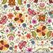 Main Floral Illustration on White from Soul Garden by Carolyn Gavin - Half Yard
