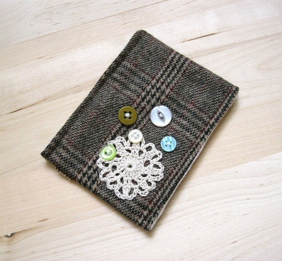 SALE - Aquaberries - Wool Lined iPod Blackberry iPhone MP3 Case