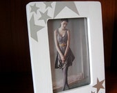 Silver Star Picture Frame 4 x 6 - Free Shipping