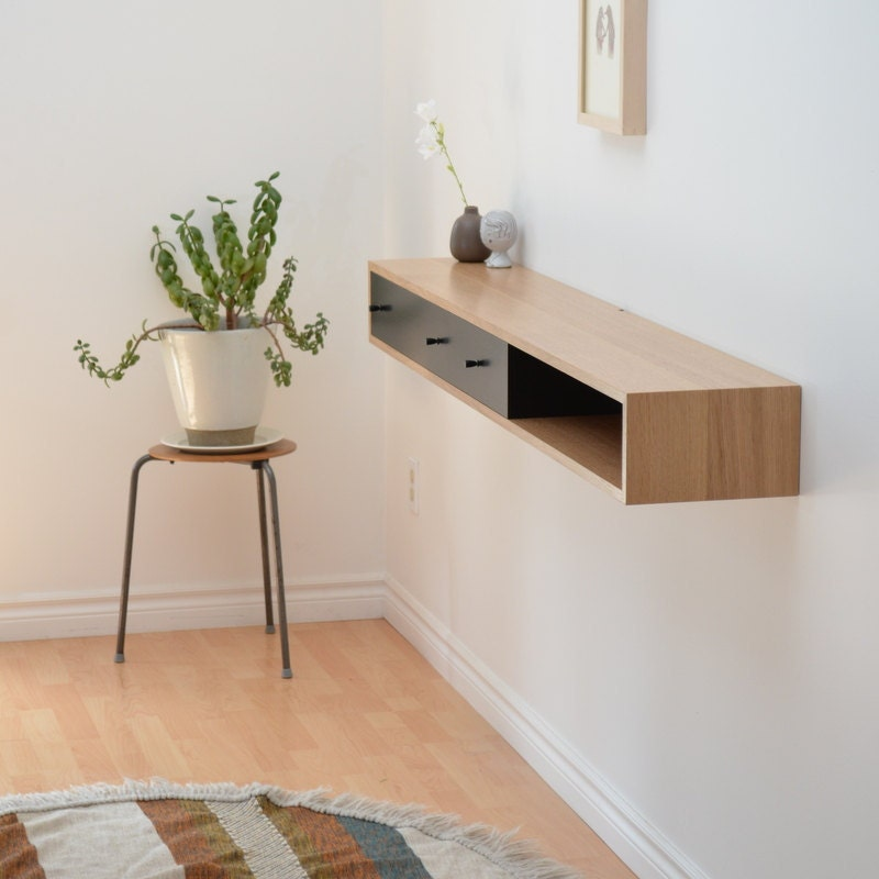 Console Table with Floating Shelves