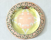 Amazing Mexican Metales Casados and Mother of Pearl Plate