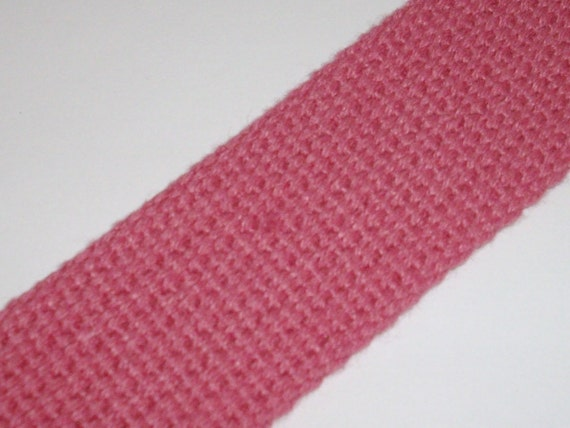 5m 1 inch PINK heavyweight cotton webbing for key fobs, straps, belts