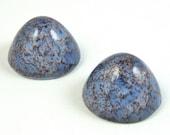Vintage Glass Cabochons 2 pcs 25mm  Purple Cabochon Stones S-86