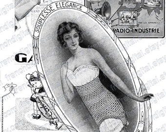 digital scan, french vintage ad, collage sheet, collage supplies, belle epoque, france, 1920, glove, aspirator, children, atc