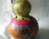 gourd dragonfly bud vase