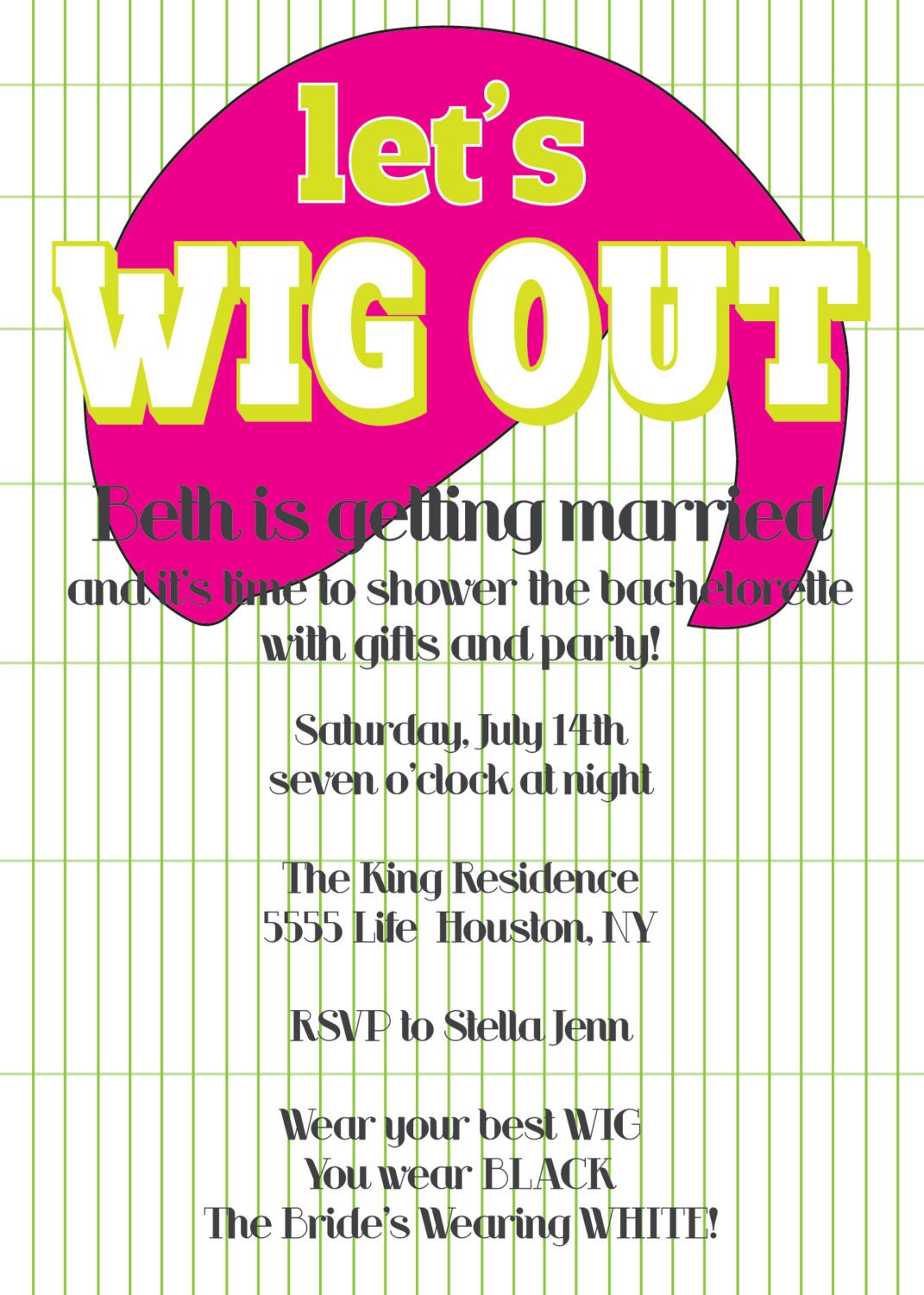 Wig Theme Party 23
