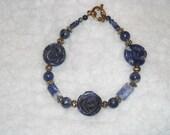Sodalite (Blue) Rosebud Bracelet