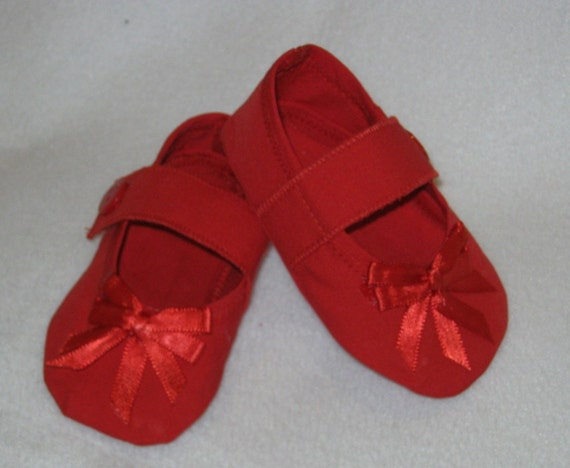 Red Mary Janes Baby Shoes Mths