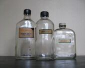 Antique Apothecary Bottles. Set No 2.