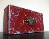 Vintage Chippy Red Metal Box.
