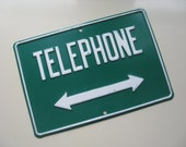 Vintage Metal Sign.  Telephone.