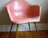 RESERVED for A.  Vintage Mid Century Modern Chromcraft Tulip Chair.