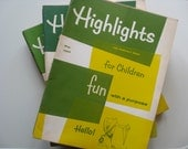 1960s and 1970s Highlights Books.  Set of 21. Full of Teacher and Parent Activities.  Summer Fun.