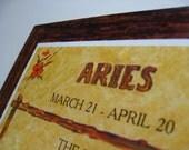Aries Wooden Wall Hanging.  Original Package.