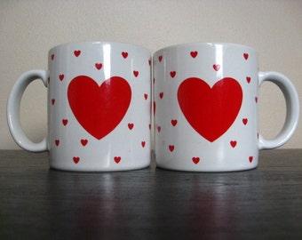 Vintage 1984 Lillian Vernon Heart / Love Mug.