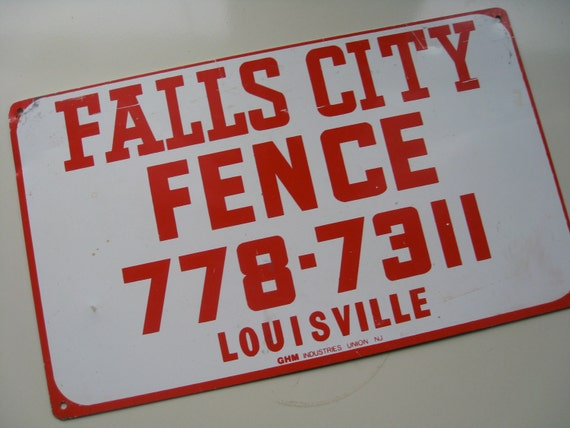 Vintage Metal Sign.  Fence Company.