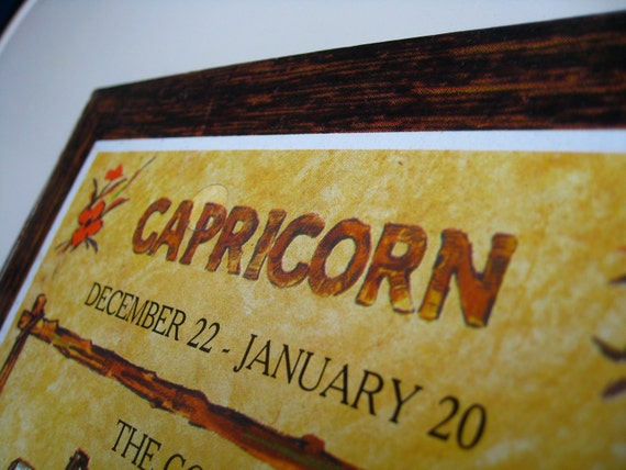 Capricorn Wooden Wall Hanging.  Original Package.