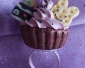 Chocolate Bunny Cupcake Ring