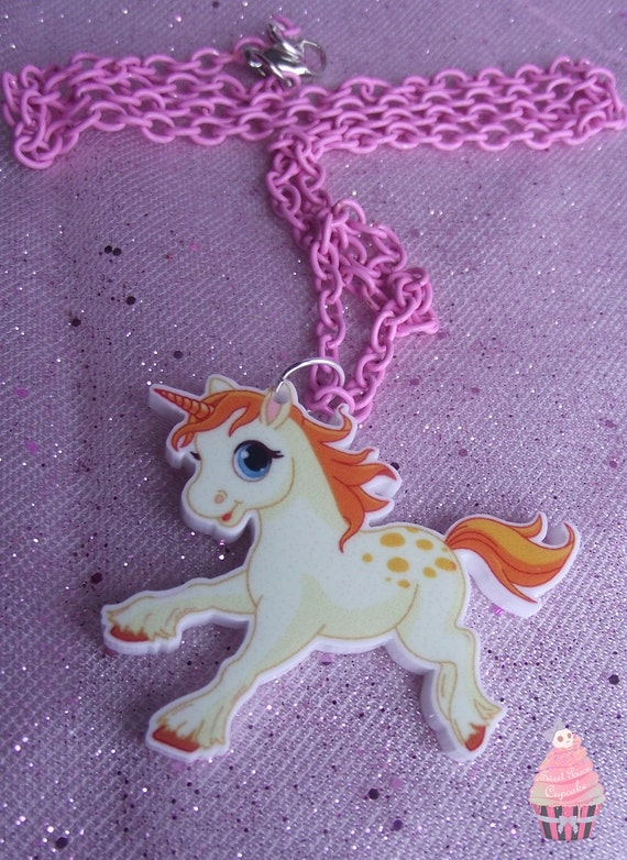 Unicorn Acrylic Necklace