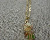 SNOWDROP enamel elf necklace