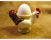 Bright Rooster Vintage Egg Cup