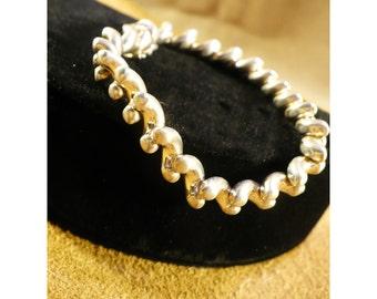 Sterling Silver Swirls Vintage Bracelet