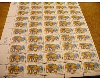 First Civil Settlement, Alta California - 1977 - 13 Cent -  Commemorative Vintage US Postage Stamp - Sheet of 50 Unused Stamps