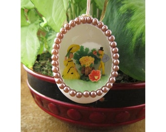 Spring is Here - Flowers for You Handmade Diorama Egg Decoration