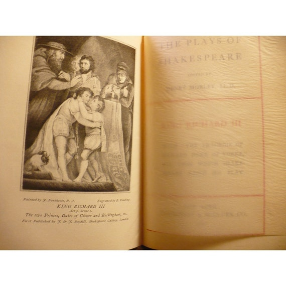 Shakespeare's Richard III and Henry VIII 1897 Edition Vintage Book - RESERVED for Daria