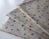 Clearance Sale - Cute Little Flowers - Japanese Cotton-Linen Fabric Available in Three Colour Combinations (Fat Quarter)