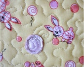 Sunny Bunnies Textured quilted postcard