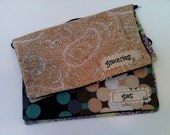"""Two Cash Envelopes- """"Groceries"""" and """"Gas"""" Purple Polka Dot & Paisley"""