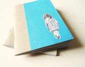 Art journal Notebook turquoise - little girl2