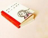 Mini art book OOAK - little girl red baloon -