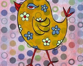 8.5x11 - Hippie Chick - Original art print