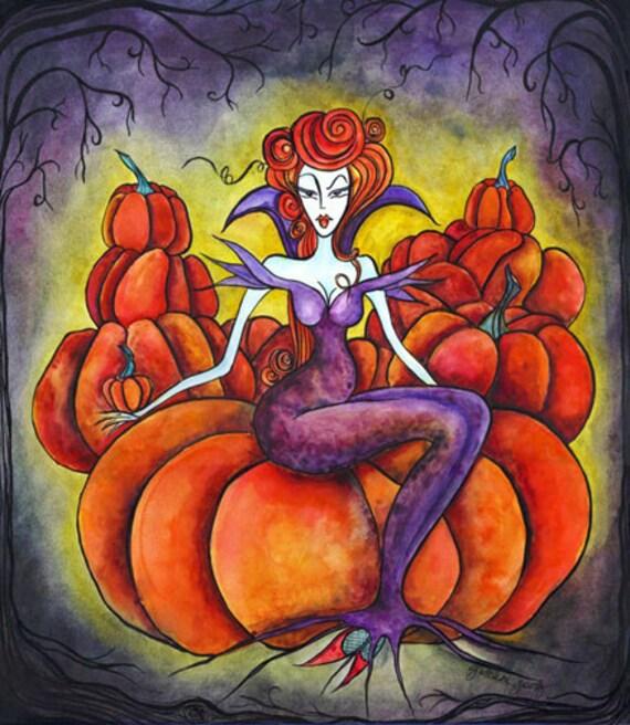 SALE PRINT! - Wicked Halloween - Original Art