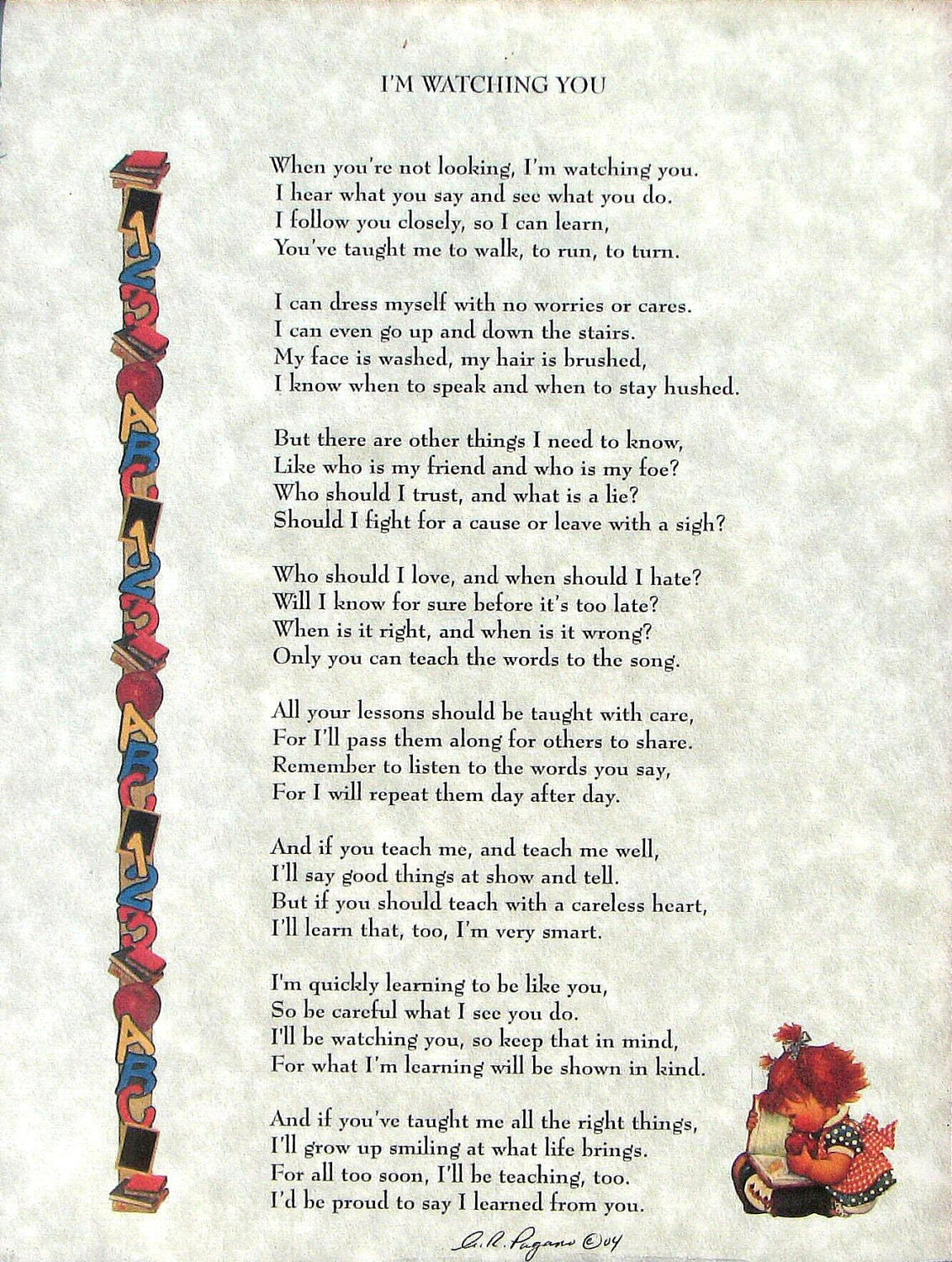 New Parents Poem I'm Watching You Unique Baby