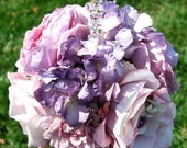 Lavender Hydrangea and Rose Flower ball