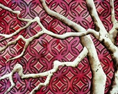 Valentine Red Retro Tree--Affordable Art Giclee Print--A5--6 x 8