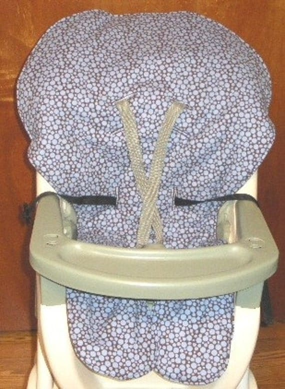 graco high chair coverpad replacement busy blue dots on. Black Bedroom Furniture Sets. Home Design Ideas