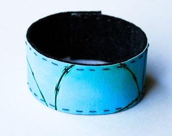 small photo wrist cuff - Barbed Wire Fence