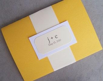 Divine Yellow Pocketfold Invitation Set