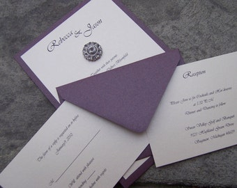 Astonishing Bejeweled Invitation Set